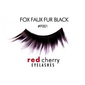 Red Cherry FAUX FUR (Black)
