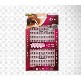 Kiss I-Envy individual Lashes Luxe Black (KPEM01B)