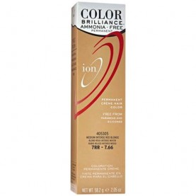 Ion Color Brilliance Ammonia Free Permanent Creme Hair Color 7RR Medium Intense Red Blonde