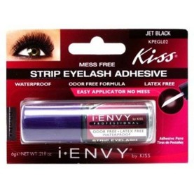 Kiss I Envy Jet Black Strip Eyelash Adhesive 0.21oz (KPEGL02)
