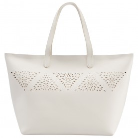 Chic And Sleek White Spring Tote